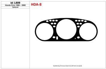 Peugeot 306 03.93 - 04.97 Mittelkonsole Armaturendekor Cockpit Dekor 13 -Teile