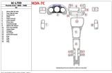 Peugeot 205 10.90 - 09.95 Mittelkonsole Armaturendekor Cockpit Dekor 11 -Teile