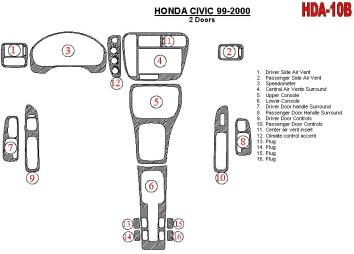 Peugeot Partner 09.96 - 09.02 Mittelkonsole Armaturendekor Cockpit Dekor 14 -Teile