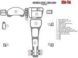 Peugeot 206 Plus 01.2009 Mittelkonsole Armaturendekor Cockpit Dekor 6 -Teile