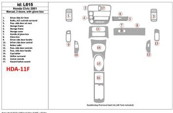 Renault Traffic 04.01 - 12.06 Interior Dashboard Trim Kit Dashtrim accessories, wood grain, camouflage, carbon fiber, aluminum d