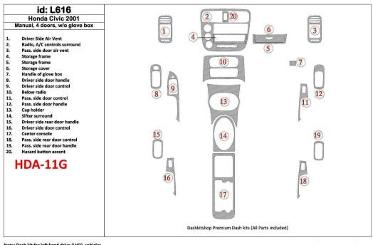 Nissan Primera 09.99-05.02 3M 3D Car Tuning Interior Tuning Interior Customisation UK Right Hand Drive Australia Dashboard Trim