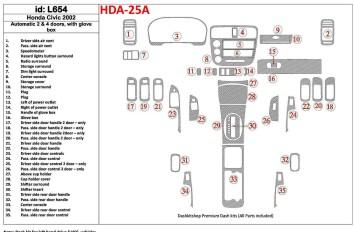 Renault Twingo 09.98 - 07.04 Interior Dashboard Trim Kit Dashtrim accessories, wood grain, camouflage, carbon fiber, aluminum da