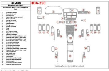 Renault Megane Scenic 06.03 - 12.10 Interior Dashboard Trim Kit Dashtrim accessories, wood grain, camouflage, carbon fiber, alum