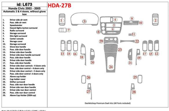 Nissan Patrol 03.98-01.00 3M 3D Car Tuning Interior Tuning Interior Customisation UK Right Hand Drive Australia Dashboard Trim K