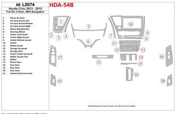 Renault Megane 03.99 - 02.03 Interior Dashboard Trim Kit Dashtrim accessories, wood grain, camouflage, carbon fiber, aluminum da