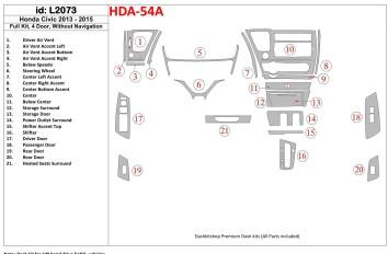 Renault Espace 10.2002 Interior Dashboard Trim Kit Dashtrim accessories, wood grain, camouflage, carbon fiber, aluminum dash kit