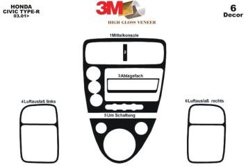 Renault Clio Symbol 01.2012 Interior Dashboard Trim Kit Dashtrim accessories, wood grain, camouflage, carbon fiber, aluminum das