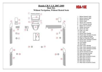 Renault Laguna 07.98 - 01.01 Interior Dashboard Trim Kit Dashtrim accessories, wood grain, camouflage, carbon fiber, aluminum da