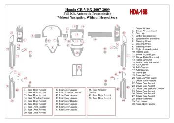 Renault Laguna 09.2009 Mittelkonsole Armaturendekor Cockpit Dekor 4 -Teile