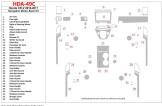 Hyundai Accent 09.94 - 12.00 Mittelkonsole Armaturendekor Cockpit Dekor 9 -Teile