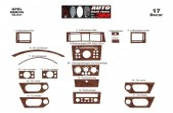 Opel Meriva 02.03-12.07 3M 3D Car Tuning Interior Tuning Interior Customisation UK Right Hand Drive Australia Dashboard Trim Kit