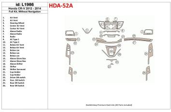 Hyundai Accent 01.01 - 12.05 Interior Dashboard Trim Kit Dashtrim accessories, wood grain, camouflage, carbon fiber, aluminum da
