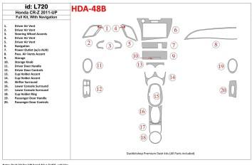 Hyundai Excel 01.91 - 08.94 Interior Dashboard Trim Kit Dashtrim accessories, wood grain, camouflage, carbon fiber, aluminum das