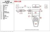 Lada 2115 06.2003 Mittelkonsole Armaturendekor Cockpit Dekor 22 -Teile