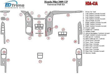 Nissan Pathfinder 09.96 - 12.01 Interior Dashboard Trim Kit Dashtrim accessories, wood grain, camouflage, carbon fiber, aluminum