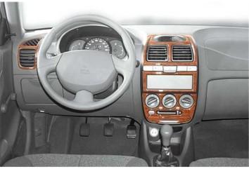 Nissan Navara D40 01.2010 Interior Dashboard Trim Kit Dashtrim accessories, wood grain, camouflage, carbon fiber, aluminum dash
