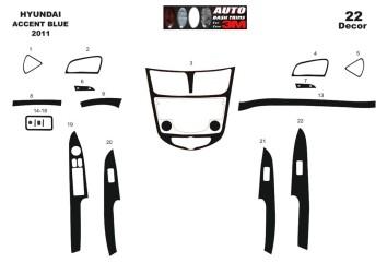 Mitsubishi Fuso Canter 01.2005 Mittelkonsole Armaturendekor Cockpit Dekor 36 -Teile