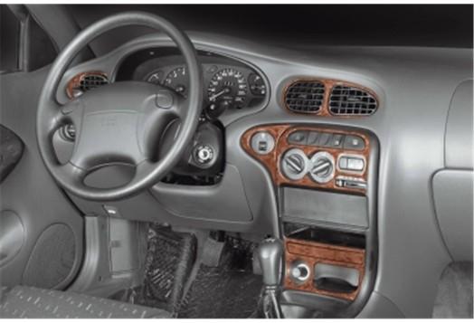 Mitsubishi Lancer CY2A–CZ4A 01.2010 Mittelkonsole Armaturendekor Cockpit Dekor 9 -Teile