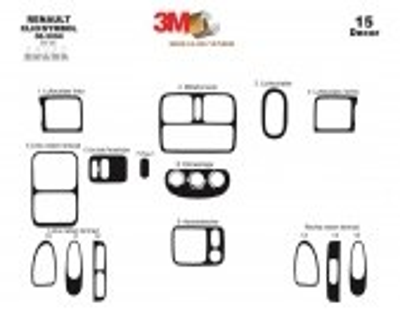 Renault Clio Symbol 06.04-09.08 3M 3D Car Tuning Interior Tuning Interior Customisation UK Right Hand Drive Australia Dashboard