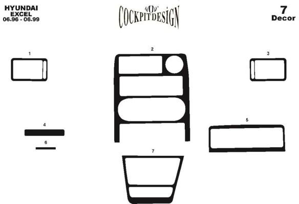 Renault Megane II 03.03-05.09 3M 3D Car Tuning Interior Tuning Interior Customisation UK Right Hand Drive Australia Dashboard Tr