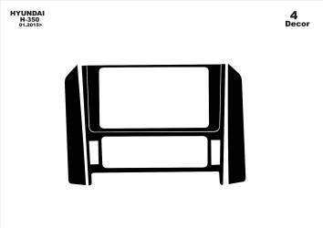 Citroen C2 - C3 03.02 - 09.04 Interior Dashboard Trim Kit Dashtrim accessories, wood grain, camouflage, carbon fiber, aluminum d