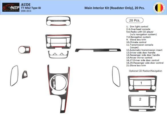 BMW X3 E83 09.2003 3M 3D Car Tuning Interior Tuning Interior Customisation UK Right Hand Drive Australia Dashboard Trim Kit Dash