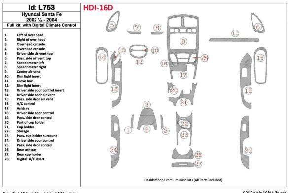 Land Rover Freelander II 01.04-12.06 3M 3D Car Tuning Interior Tuning Interior Customisation UK Right Hand Drive Australia Dashb