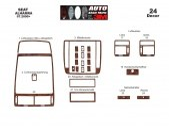 Seat Alhambra 07.00-12.09 3M 3D Car Tuning Interior Tuning Interior Customisation UK Right Hand Drive Australia Dashboard Trim K