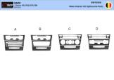 BMW 5 Series E34 01.88 - 09.95 Mittelkonsole Armaturendekor Cockpit Dekor 22 -Teile