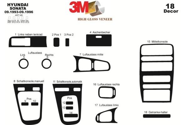 Seat Arosa 04.97-01.01 3M 3D Car Tuning Interior Tuning Interior Customisation UK Right Hand Drive Australia Dashboard Trim Kit
