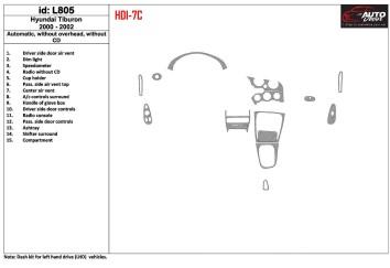 Toyota Landcruiser 07.96 - 04.98 Mittelkonsole Armaturendekor Cockpit Dekor 20 -Teile