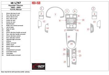 Toyota Corona 03.97 - 12.03 Mittelkonsole Armaturendekor Cockpit Dekor 14 -Teile