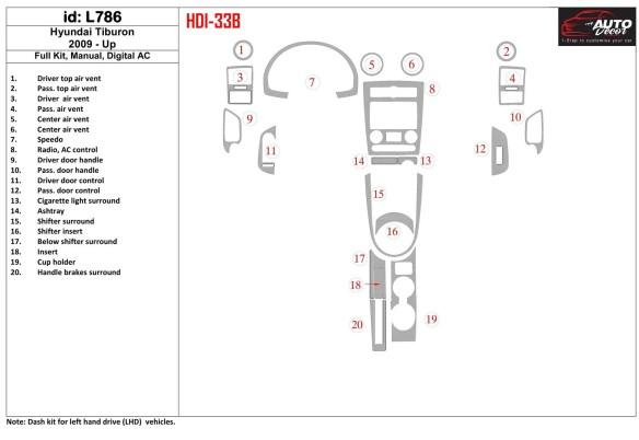 Subaru Impreza 01.2007 3M 3D Car Tuning Interior Tuning Interior Customisation UK Right Hand Drive Australia Dashboard Trim Kit
