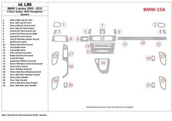 Chery Tiggo 4x4 09.2007 Mittelkonsole Armaturendekor Cockpit Dekor 16 -Teile