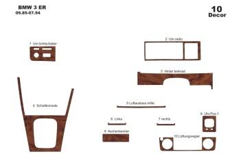 Chevrolet Aveo 02.2006 Mittelkonsole Armaturendekor Cockpit Dekor 21 -Teile