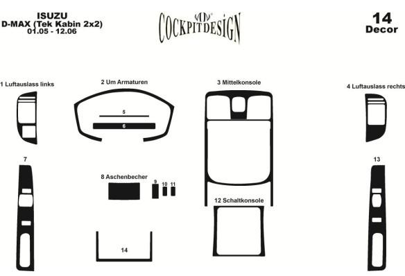 Volkswagen Polo 9N3 03.05-08.09 3M 3D Car Tuning Interior Tuning Interior Customisation UK Right Hand Drive Australia Dashboard