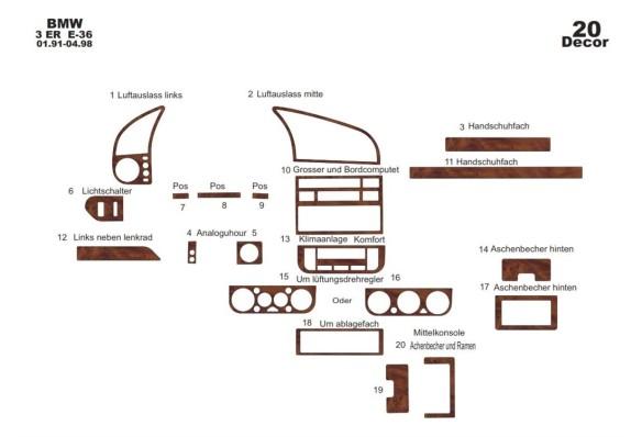 Chevrolet Rezzo-Tacuma 04.2002 3M 3D Car Tuning Interior Tuning Interior Customisation UK Right Hand Drive Australia Dashboard T