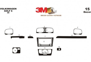 Mercedes Vito W638 V-Klasse 02.96 - 02.99 Mittelkonsole Armaturendekor Cockpit Dekor 40 -Teile