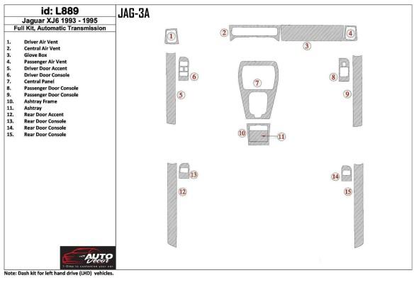 Volkswagen Passat B5 Typ 3B 09.96-06.04 3M 3D Car Tuning Interior Tuning Interior Customisation UK Right Hand Drive Australia Da