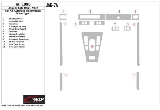 Mercedes Tourismo 01.2011 Mittelkonsole Armaturendekor Cockpit Dekor 10 -Teile
