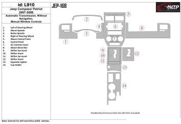 Mercedes C-Class W202 06.93 - 09.95 Mittelkonsole Armaturendekor Cockpit Dekor 16 -Teile