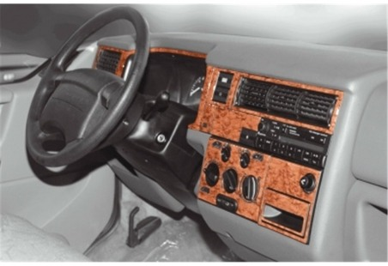 Dacia Solenza 04.2004 Interior Dashboard Trim Kit Dashtrim accessories, wood grain, camouflage, carbon fiber, aluminum dash kits