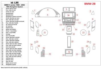 Isuzu NPR Series 09.2009 Mittelkonsole Armaturendekor Cockpit Dekor 12 -Teile