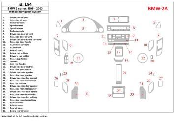 Isuzu D-Max 4X2 - 4X4 01.07 - 12.12 Mittelkonsole Armaturendekor Cockpit Dekor 19 -Teile