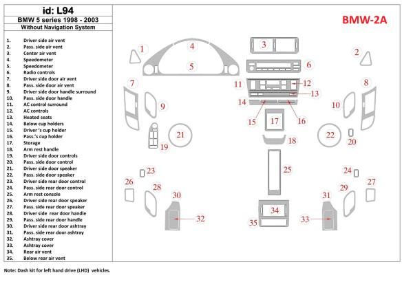 Chrysler Compass 01.07-01.10 3M 3D Car Tuning Interior Tuning Interior Customisation UK Right Hand Drive Australia Dashboard Tri