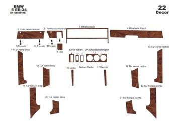 Isuzu D-Max Cab 4X2 01.05 - 12.06 Mittelkonsole Armaturendekor Cockpit Dekor 14 -Teile