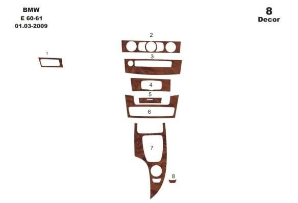 Chrysler Voyager 01.96 - 02.01 Mittelkonsole Armaturendekor Cockpit Dekor 12 -Teile