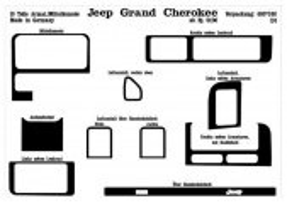 Chrysler Grand Cherokee 01.1996 3M 3D Car Tuning Interior Tuning Interior Customisation UK Right Hand Drive Australia Dashboard
