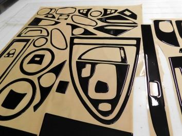 Citroen Berlingo 08.2008 Interior Dashboard Trim Kit Dashtrim accessories, wood grain, camouflage, carbon fiber, aluminum dash k